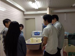 デイでの入浴の説明